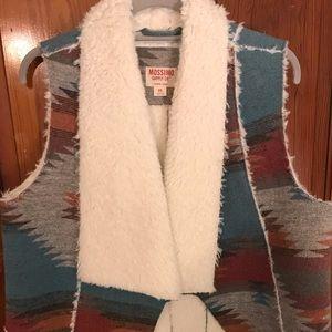 Aztec faux Sherpa vest
